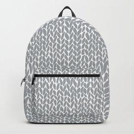 Hand Knit Light Grey Backpack