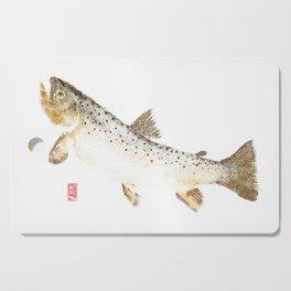 Brown Trout - Gyotaku Cutting Board