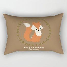 Renard roux // Red fox Rectangular Pillow