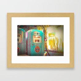Tulsa Tea Gas Pump Framed Art Print