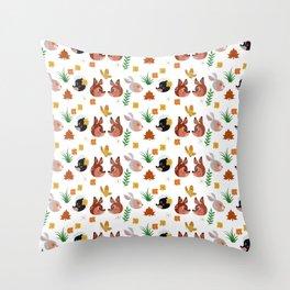 Woodland Critter Design (CUTE) Throw Pillow