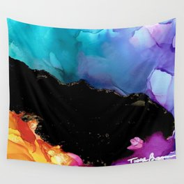 Mountainside Abstract Wall Tapestry