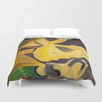 pasta Duvet Covers featuring Pasta by Stefanie Sharp
