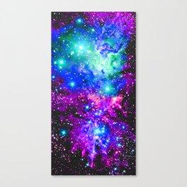 Fox Fur Nebula Galaxy Pink Purple Blue Canvas Print