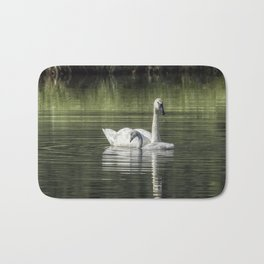 Swan with Cygnet Bath Mat