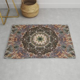 Mandala with ammonites Rug