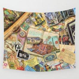Vintage World Traveler Wall Tapestry