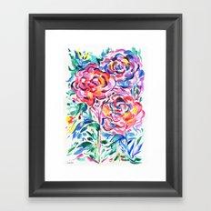 Abstract Roses 1 Framed Art Print