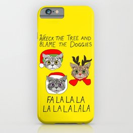 Holiday Cat Brats iPhone Case
