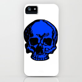 Blue Pirate Skull, Vibrant Skull, Super Smooth Super Sharp 9000px x 11250px PNG iPhone Case