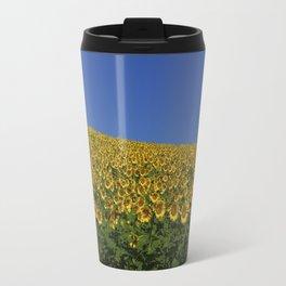 Sunflowers on the horizon Travel Mug