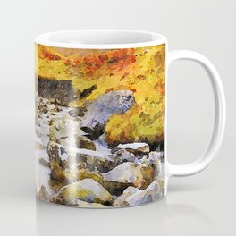 Brook at Honister Pass, Buttermere, Lake District, England. Watercolour Painting. Coffee Mug