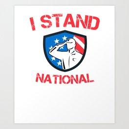 Proud USA Patriot National Anthem product Art Print