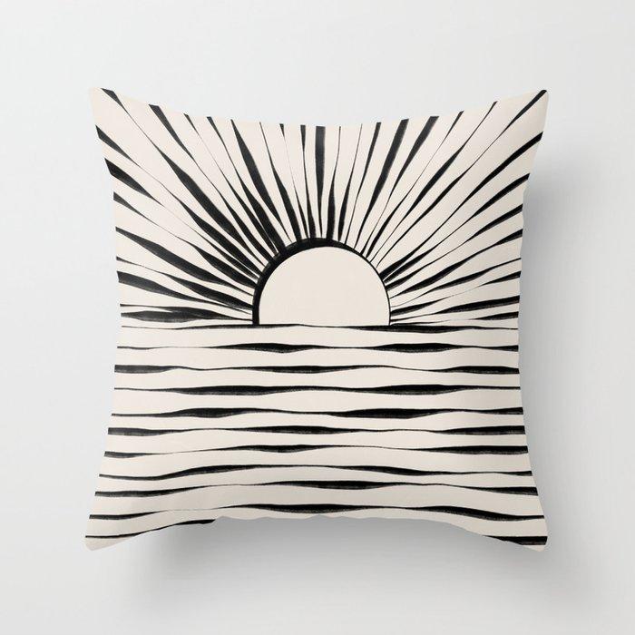 Minimal Sunrise / Sunset Throw Pillow
