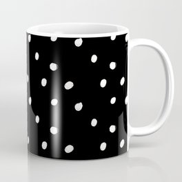 white tiny polka dots on black - Mix & Match with Simplicty of life Coffee Mug