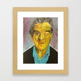 Yellow Robert De Niro Framed Art Print