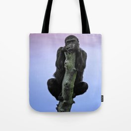 Lope The Gorilla At Sunset Tote Bag