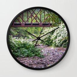 Train Bridge over The Beaverkill River Wall Clock