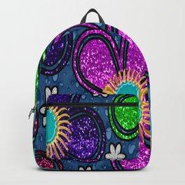 Glitter Flowers Backpack