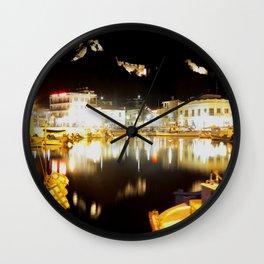 lemnos at night Wall Clock