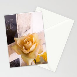 """""""La France"""" and the yellow rose at Pere Lachaise Cemetery - Photograph Stationery Cards"""
