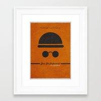 leon Framed Art Prints featuring Leon by Ayse Deniz