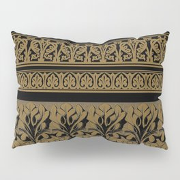Black Brown Frett Work Pillow Sham