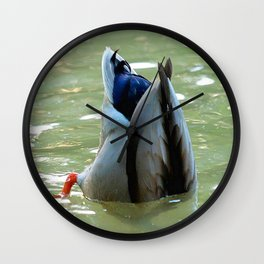 Bottom's Up Dabbling Duck Wall Clock