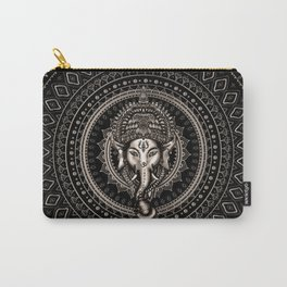 Lord Ganesha - Sepia Black Carry-All Pouch