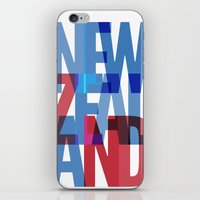 new zealand iPhone & iPod Skins featuring New Zealand by Feb Studios
