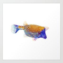 Blue Box Puffer Art Print