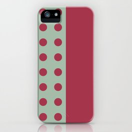 """""""Pink and Aquamarine Pastel Pattern, Marilyn"""" iPhone Case"""