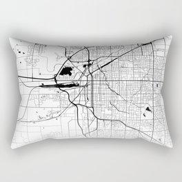 Map of the City Neck Gaiter Lincoln Nebraska Map Neck Gator Rectangular Pillow