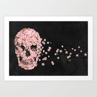 flower Art Prints featuring A Beautiful Death  by Terry Fan