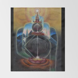 The Art of Acceleration Throw Blanket