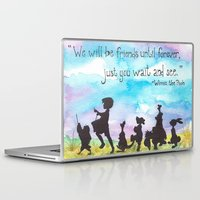 winnie the pooh Laptop & iPad Skins featuring Winnie The Pooh and Friends by Brietron Art
