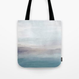 Light Gray, Mauve, Turquoise Aqua Blue Print Modern Wall Art, Abstract Painting Tote Bag