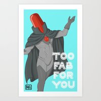 red hood Art Prints featuring Red Hood by Delcee