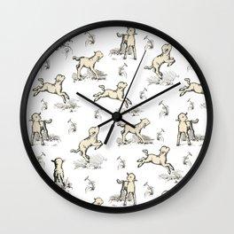 Little Sheep pattern Wall Clock