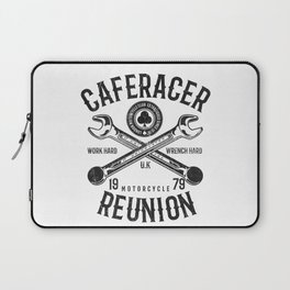 Cafe Racer Reunion Vintage Tools Poster Laptop Sleeve