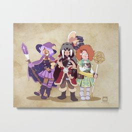 D&D Girls Metal Print