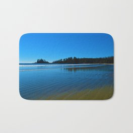 Rippled beaches of the Pacific Ocean in Western Canada Bath Mat