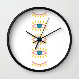 Sleepy Eyes Wall Clock