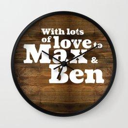 max&ben Wall Clock