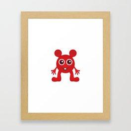 Red Smiley Man Framed Art Print