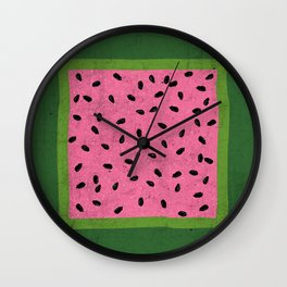 Watermelon Seeds Wall Clock