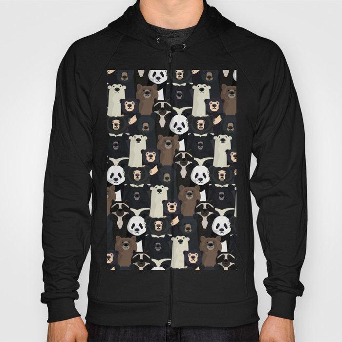 Bears of the world pattern Hoody