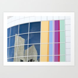 Reflections of the Getty Art Print