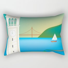 Berkeley, California - Skyline Illustration by Loose Petals Rectangular Pillow