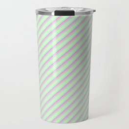 Pastel Tones Inclined Stripes Travel Mug